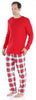 SleepytimePjs Family Matching Christmas Red & White Plaid Flannel Pajamas