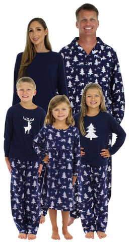 SleepytimePjs Family Matching Winter Deer Pajamas for the Family