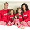 SleepytimePJs Family Matching Knit Red Snowflake Pajama