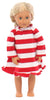 SleepytimePjs Family Matching Christmas Red or Green Striped Knit Pajamas for the Family in Doll