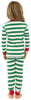 SleepytimePjs Family Matching Christmas Red or Green Striped Knit Pajamas for the Family
