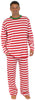 SleepytimePjs Family Matching Christmas Red or Green Striped Knit Pajamas for the Family in Men