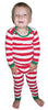 SleepytimePjs Family Matching Christmas Red or Green Striped Knit Pajamas for the Family in Infant