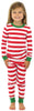 SleepytimePjs Family Matching Christmas Red or Green Striped Knit Pajamas for the Family in Kids