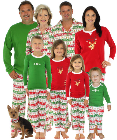 SleepytimePjs Family Matching Christmas Reindeer Pajamas for the Family