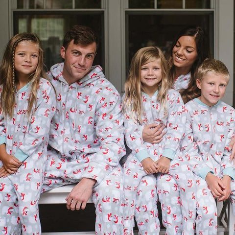 SleepytimePjs Family Matching Holiday Polar Bear Fleece Onesie PJs Footed Pajamas for the Family