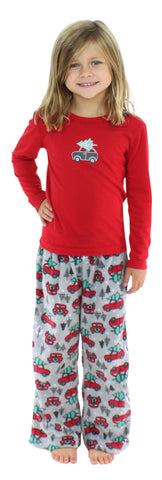 SleepytimePjs Kids Fleece Christmas Pajamas