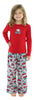 SleepytimePjs Family Matching Holiday Fleece Pajamas for the Family in Kids - Red
