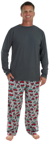 SleepytimePjs Men's Holiday Fleece Pajamas
