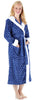 Frankie & Johnny Women's Fleece Robe Sherpa-Lined Hooded Bathrobe
