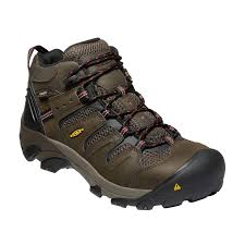 Keen Utility Men's Waterproof Lansing Mid Steel Toe in Brown 1022098 EH