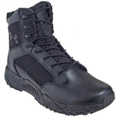 Men's Under Armour Stellar Tactical Work Boots Black Leather/ Nylon UA-1268951-001