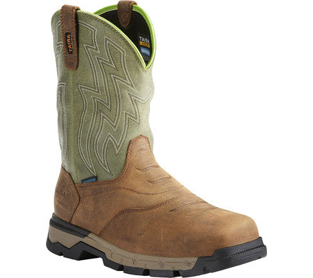 Ariat Men's Waterproof Composite Safety Toe Wellington Rebar EH AR21486
