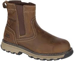 Caterpillar Mens Pelton Steel Safety Toe  Slip On Work Boot CAT-P90721 EH