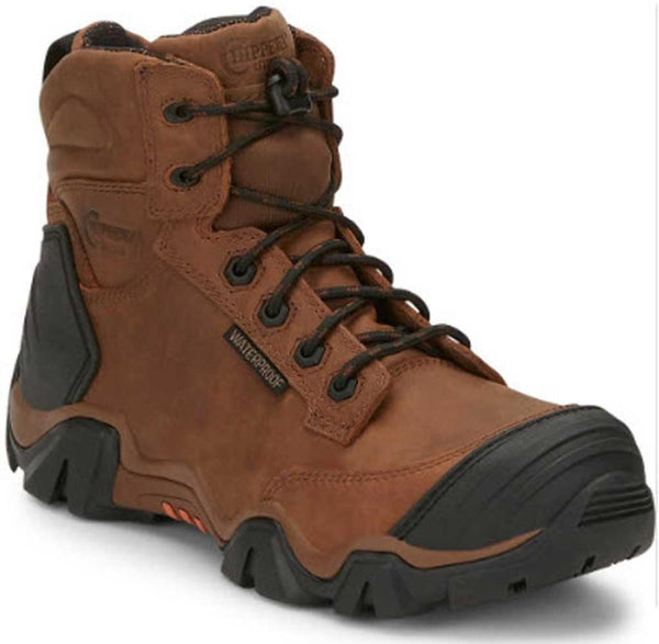 "Chippewa Men's 6"" Atlas Brown Leather Waterproof Composite Safety Toe Work Boot CHP50003 EH"
