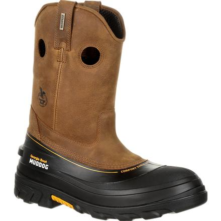 Georgia Boot Mens Waterproof Muddog Wellington with a Composite Toe EH GB00243