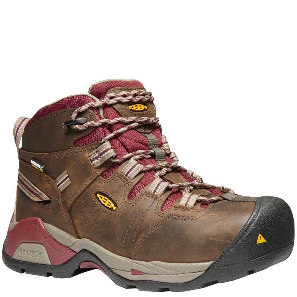 Keen Utility Womens Detriot Safety Toe (Steel Toe) EH Black Olive | Tawny Red 1020089