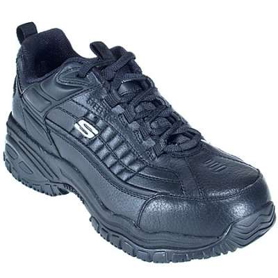Skechers Mens Steel Toe Soft Stride Black Safety Shoe SK76760BBK EH