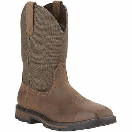 Ariat Men's Groundbreaker Waterproof Wellington Squared  Steel Toe Safety Boot AR15196 EH