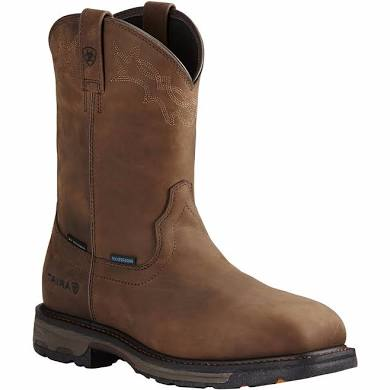 Ariat Boot Men's Composite Safety Toe Workhog Waterproof Pull On Boot AR20092 EH