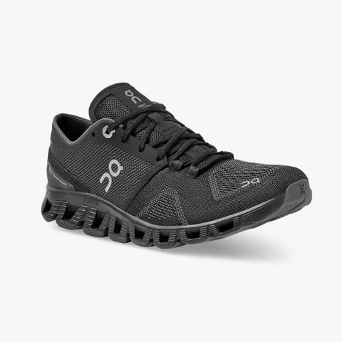 On Running (Cloud) Womens Cloud X Running Shoe Black | Asphalt 40.99701 Non Safety