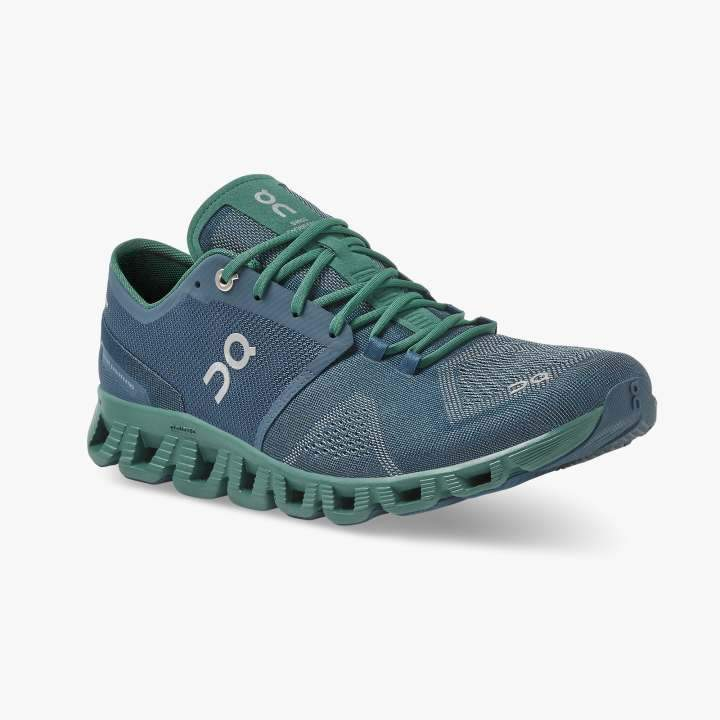 On Running (Cloud) Mens Cloud X Running Shoe Storm | Tide 40.99703 Non Safety