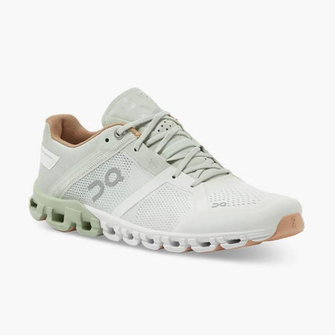 On Running (Cloud) Womens Cloudflow Running Shoe Aloe | White 25.99636 Non Safety