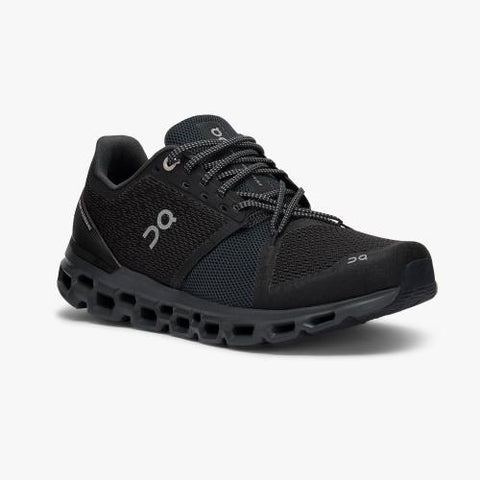 On Running (Cloud) Mens Cloudstratus Running Shoe Black | Shadow  29.99845 Non Safety