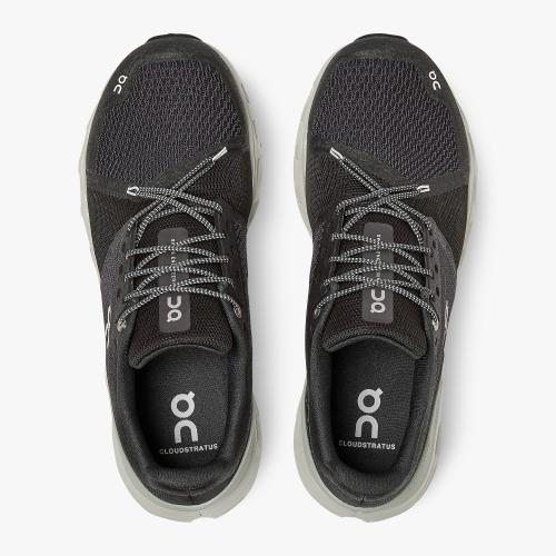 On Running (Cloud) Mens Cloudstratus Running Shoe Black | Mineral 29.99564 Non Safety