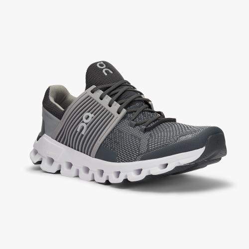 On Running (Cloud) Mens Cloudswift Running Shoe Rock | Slate  31.99941 Non Safety