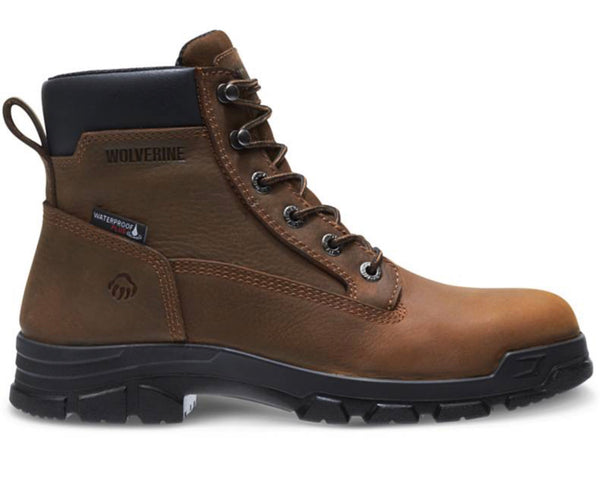 "Wolverine Boot Mens  Waterproof  6"" Chainhand EPX Steel Toe Slip Resistant Lace Up Boot. EH W10916"