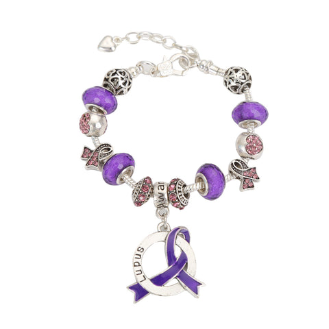 Lupus Awareness Luxury Charm Bracelet