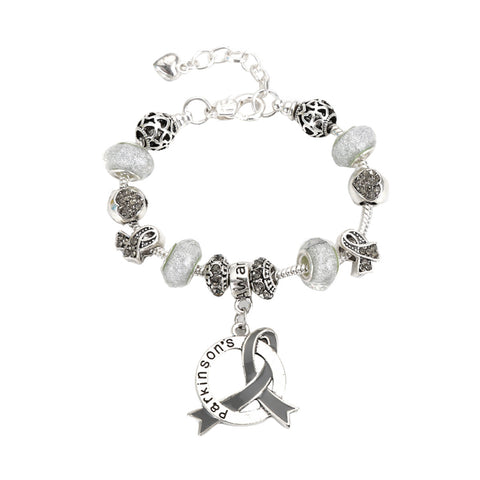 Parkinsons Awareness Luxury Charm Bracelet