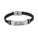 Crohn's Leather Awareness Bracelet