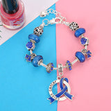 Colon Cancer Awareness Luxury Charm Bracelet