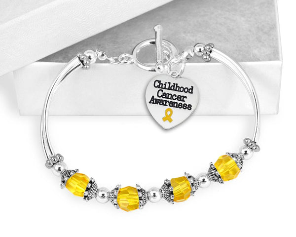 Childhood Cancer Awareness Toggle Bracelet