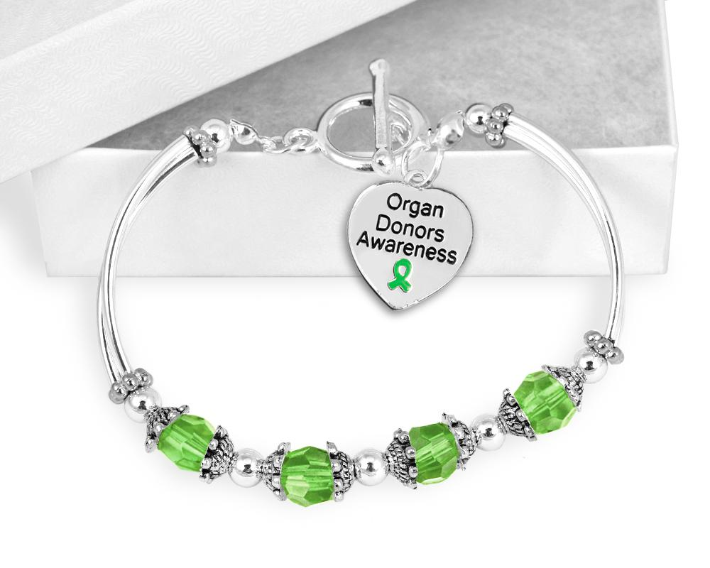 Organ Donor Awareness Toggle Bracelet