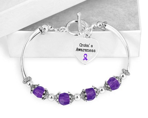 Crohn's Awareness Toggle Bracelet