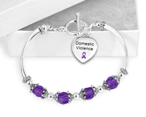 Domestic Violence Awareness Toggle Bracelet