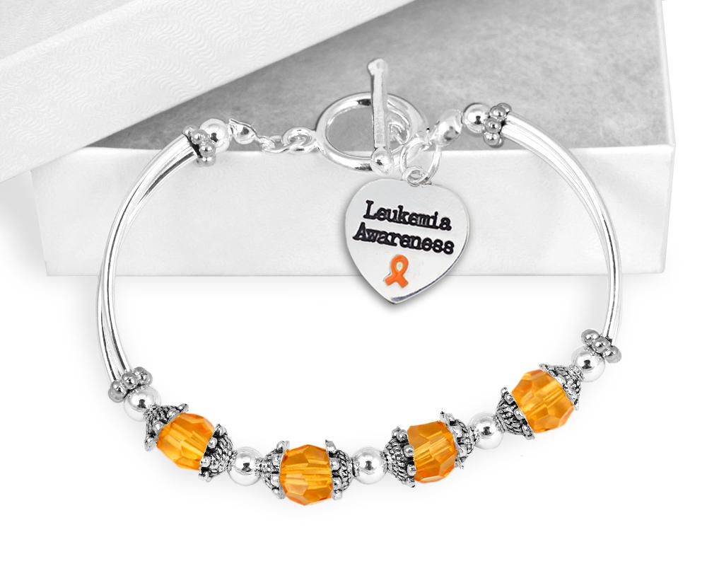 Leukemia Awareness Toggle Bracelet