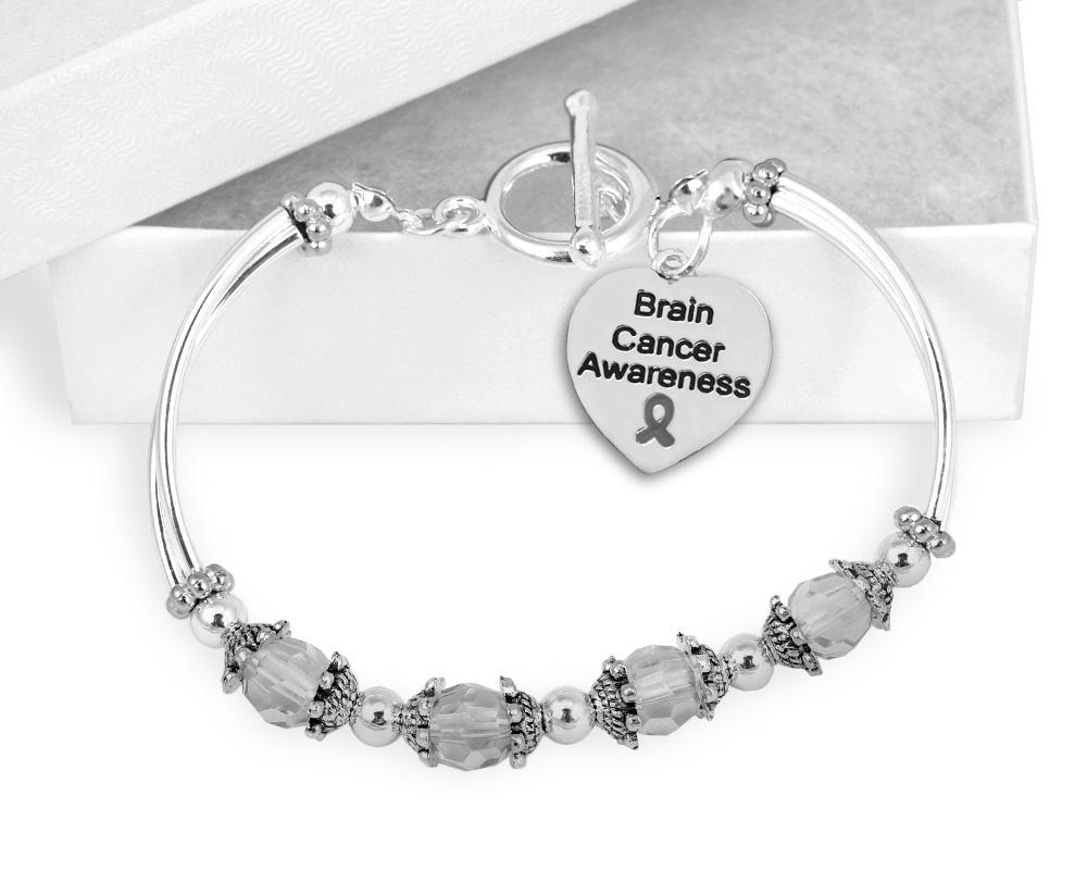 Brain Cancer Awareness Toggle Bracelet