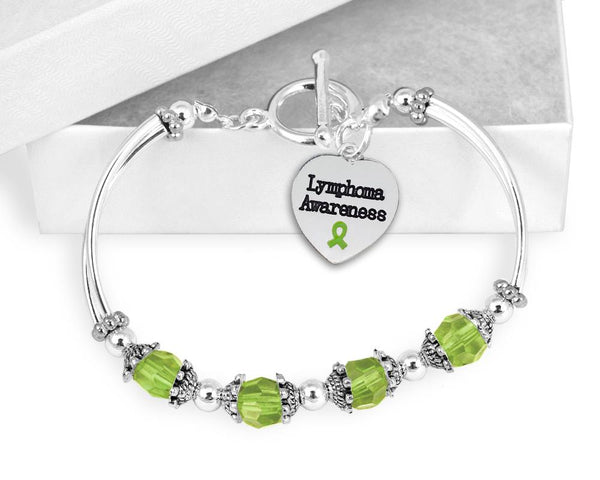 Lymphoma Awareness Toggle Bracelet