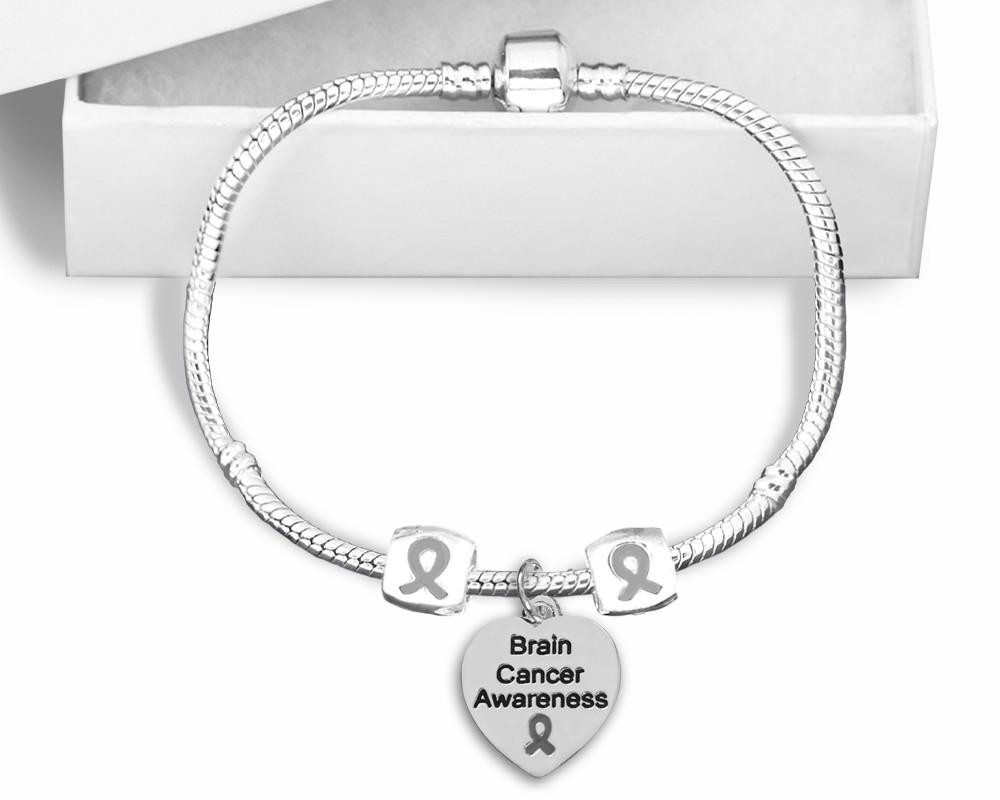 Brain Cancer Snake Chain Bracelet