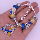 Down Syndrome Awareness Luxury Charm Bracelet