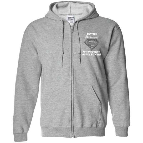 I Battle Parkinsons Zip Up Hoodie