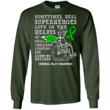 Real Superheroes! Cerebral Palsy Awareness Long Sleeve T-Shirt