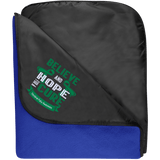 Fleece & Poly Travel Blanket - Believe & Hope for a cure....