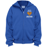 I Battle Leukemia... KIDS Zip Up Hoodie