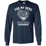 For My Hero! Brain Cancer Awareness Long Sleeve Collection