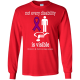 Not every disability is visible! Crohn's & Colitis Awareness Long Sleeve T-Shirt